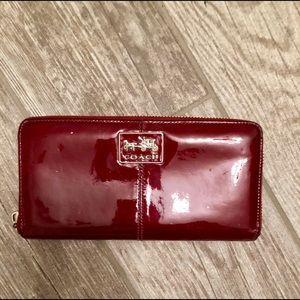 Coach paten-leather wallet